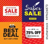 set of mega sale flyer or... | Shutterstock .eps vector #449626873