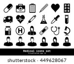 medical icons with white... | Shutterstock .eps vector #449628067