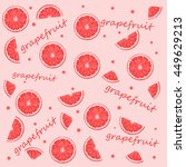 grapefruit background | Shutterstock .eps vector #449629213