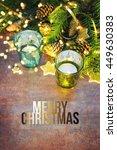 christmas holiday lights... | Shutterstock . vector #449630383