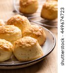 Homemade Scone With Cheese In...