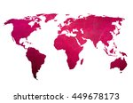 world map vintage artwork  ... | Shutterstock . vector #449678173
