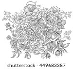 hand drawn ink pattern.... | Shutterstock .eps vector #449683387