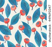 seamless watercolor floral... | Shutterstock . vector #449693347