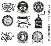 set of vintage coffee badges... | Shutterstock .eps vector #449725723