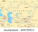 caucasus and central asia... | Shutterstock .eps vector #449729917