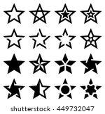 star shape icons   illustration | Shutterstock .eps vector #449732047