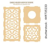 diy laser cutting vector scheme ... | Shutterstock .eps vector #449735233