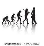 human evolution  businessman.... | Shutterstock .eps vector #449737063