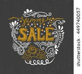 summer sale   hand drawn...   Shutterstock .eps vector #449740057