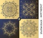 luxury logos for decoration.... | Shutterstock .eps vector #449748547