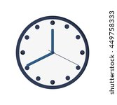 clock time hour icon isolated...