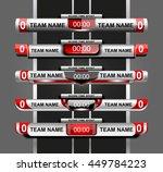 set of template scoreboard... | Shutterstock .eps vector #449784223