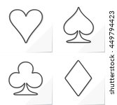 Four Card Suits Hearts Spade...