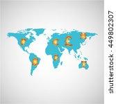 finance money economy dollar... | Shutterstock .eps vector #449802307