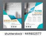 abstract  business  brochure... | Shutterstock .eps vector #449802577