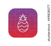 pineapple line icon | Shutterstock .eps vector #449828377