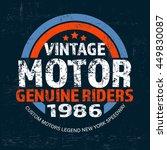 typography vintage brand logo... | Shutterstock .eps vector #449830087
