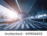 highway junction flyover ramps...   Shutterstock . vector #449836603