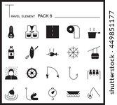 travel element graph icon set 8....