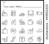 travel element line icon set 2...