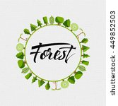 forest   badge  sticker can be... | Shutterstock . vector #449852503