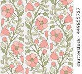 dog rose floral seamless... | Shutterstock .eps vector #449855737