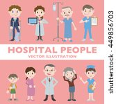 people in hospital character... | Shutterstock .eps vector #449856703