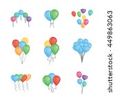 balloons vector collection... | Shutterstock .eps vector #449863063