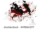 conceptual image with blood on... | Shutterstock . vector #449864197