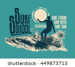 design surf school for t shirt... | Shutterstock .eps vector #449873713