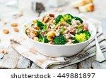 broccoli chickpea cilantro... | Shutterstock . vector #449881897