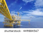 offshore industry oil and gas... | Shutterstock . vector #449884567
