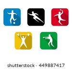 set of sports games. athletes... | Shutterstock .eps vector #449887417