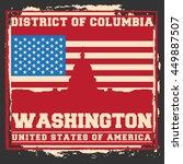 washington dc city concept.... | Shutterstock .eps vector #449887507