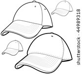 Baseball Cap Set Isolated On A...