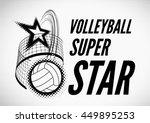 volleyball super star design | Shutterstock .eps vector #449895253