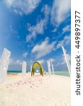 beautiful wedding arch on the... | Shutterstock . vector #449897377