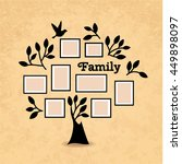 memories tree with picture... | Shutterstock .eps vector #449898097