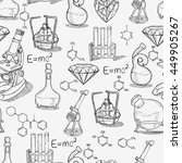 hand drawn science vintage... | Shutterstock .eps vector #449905267