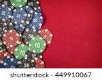 Gambling Chips For Poker On Re...