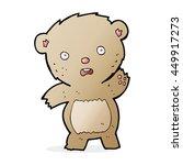 cartoon unhappy teddy bear   Shutterstock . vector #449917273