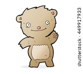 cartoon waving teddy bear   Shutterstock . vector #449917933