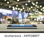shopping cart icon on modern... | Shutterstock . vector #449938897