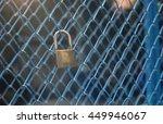 Portrait Of Key Lock Hook On...