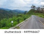 road  mountain  green forest at ... | Shutterstock . vector #449946667
