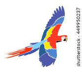 parrot ara in bright colors ... | Shutterstock .eps vector #449950237