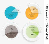 set of pie charts with segment... | Shutterstock .eps vector #449955403