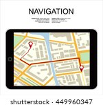 global positioning system ... | Shutterstock .eps vector #449960347