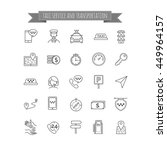 taxi thin line icons set | Shutterstock .eps vector #449964157